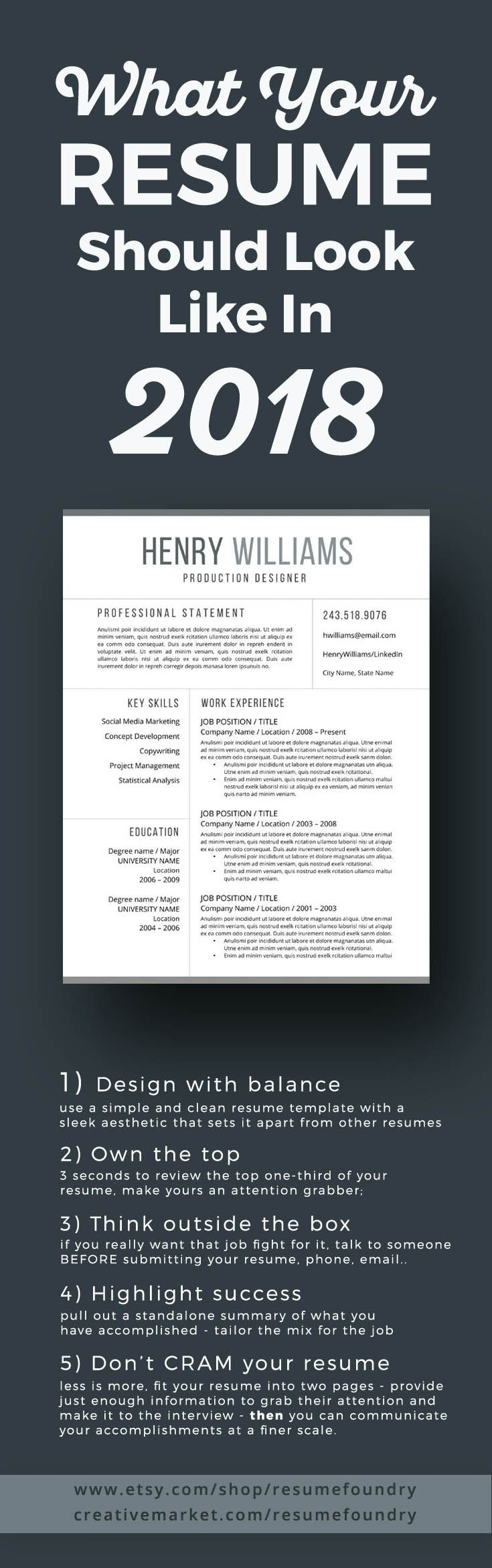Use A Simple And Clean Resume Template With Sleek