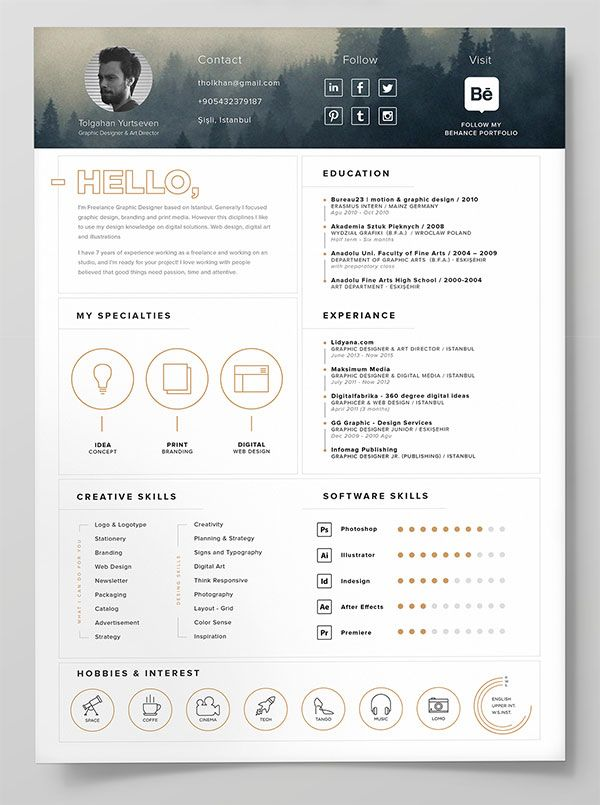 Resume Templates & Design : 10 Best Free Resume (CV ...