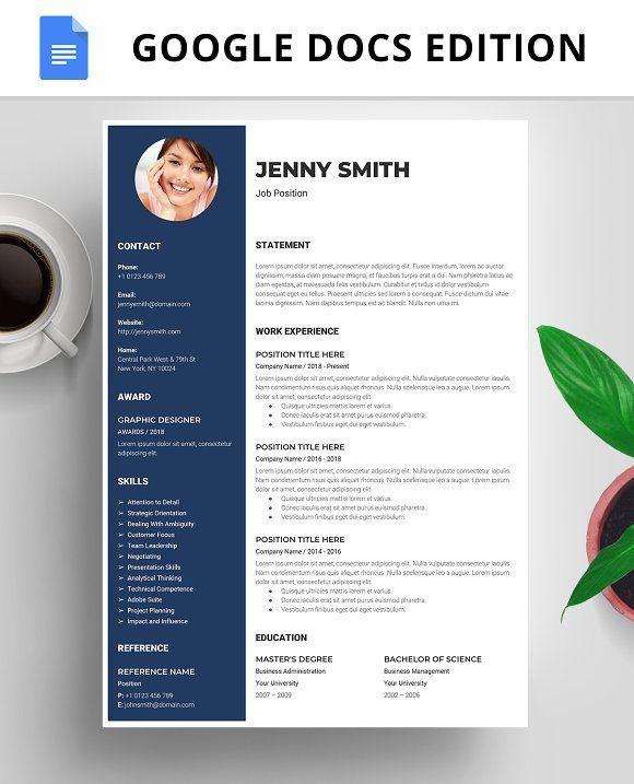 Resume Templates Design Template CV Google Docs