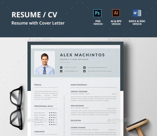 Resume Templates Professional Resume Cover Letter Design