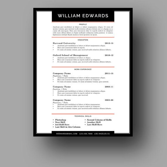 resume design sophisticated resume template modern strong bold