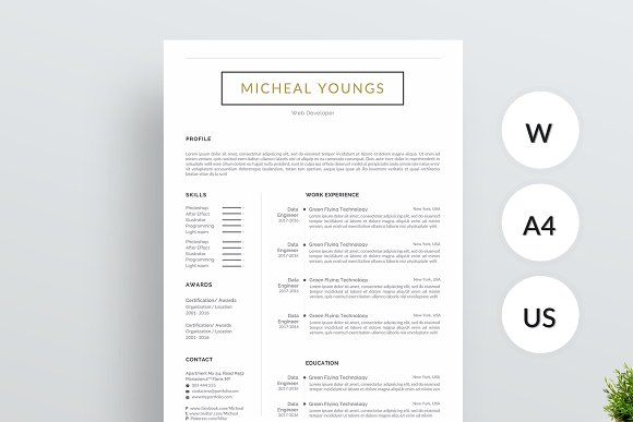 resume templates design 1 page resume template creativework247