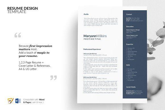 Resume Templates & Design : CV Design  Resume Design  Template