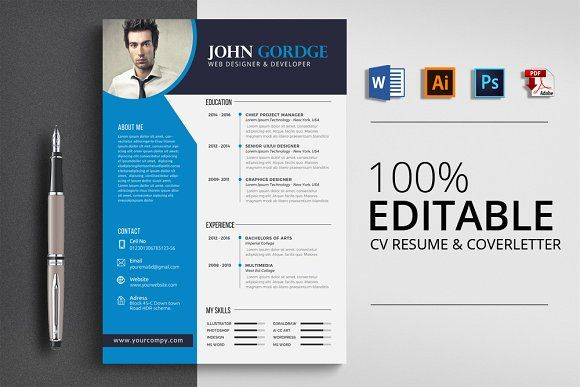 Resume Templates Design Cv Resume Template Word Creativework247
