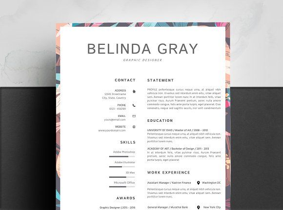 Resume Templates Design Clean Template