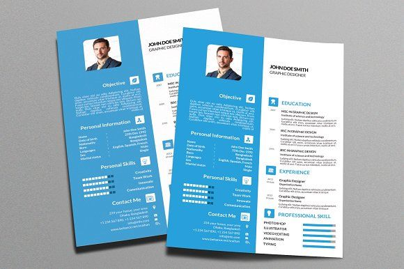 Resume Templates & Design : Colored Resume Template 2018 Vol-1 ...