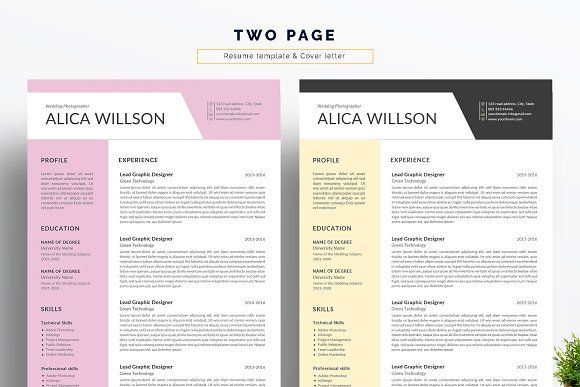 Resume Templates Design Colored Template Word Resum