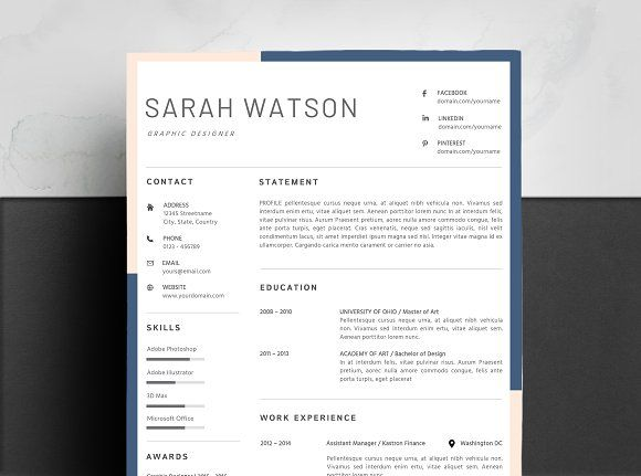 Resume Templates Design Creative Resume Template Mac