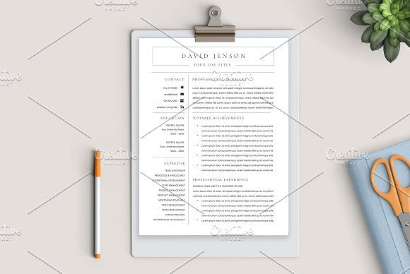 Resume Templates & Design : Executive Resume for Word + ...