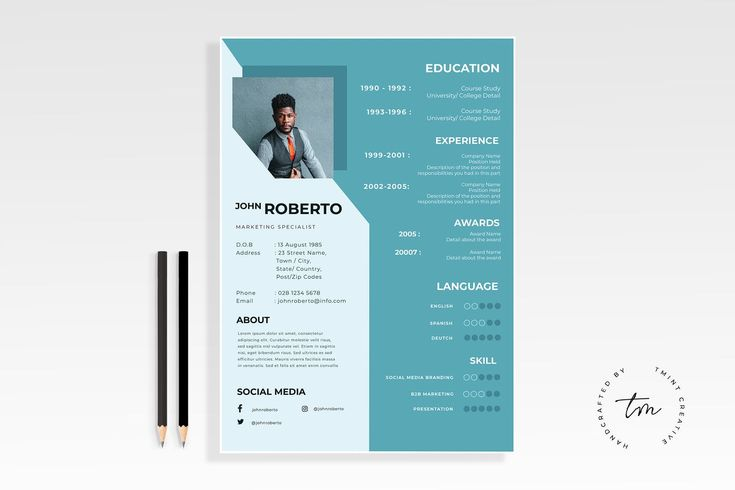 Resume Templates CV Template AI EPS