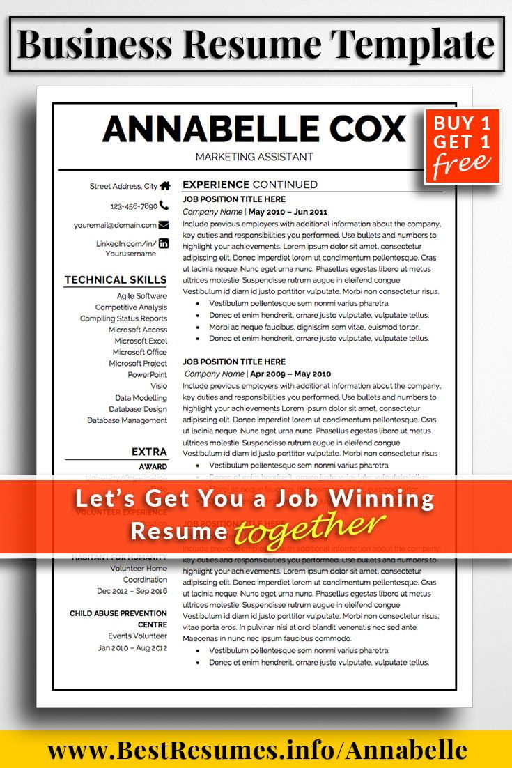 Resume Tips Business Resume Template Is A Professional Resume