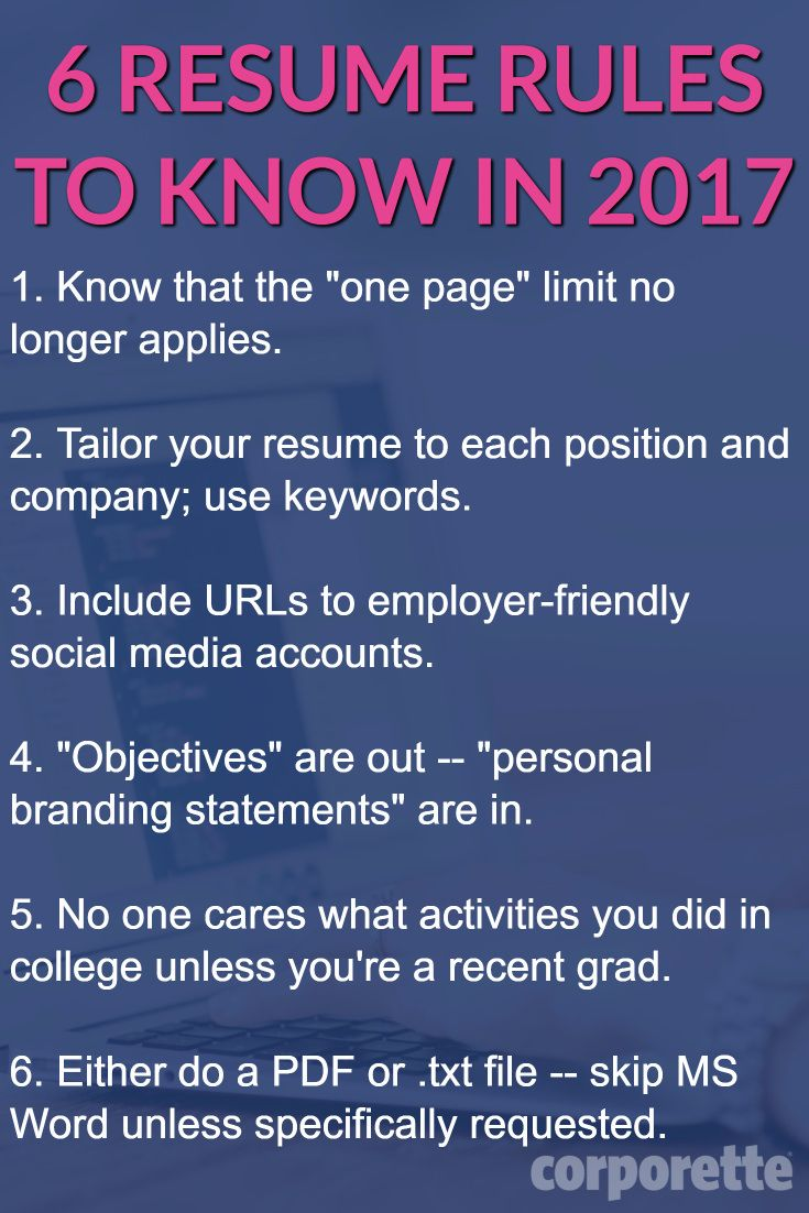 Resume Tips Do You Agree With These Rules Lots Of