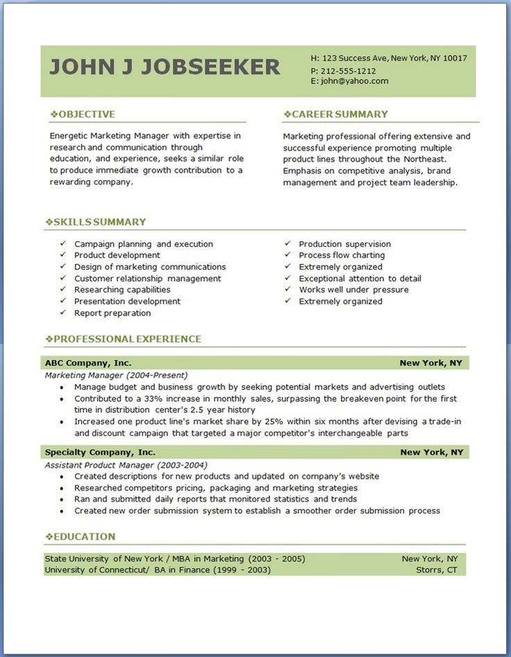 Free Professional Resume Writers Summary For Resume