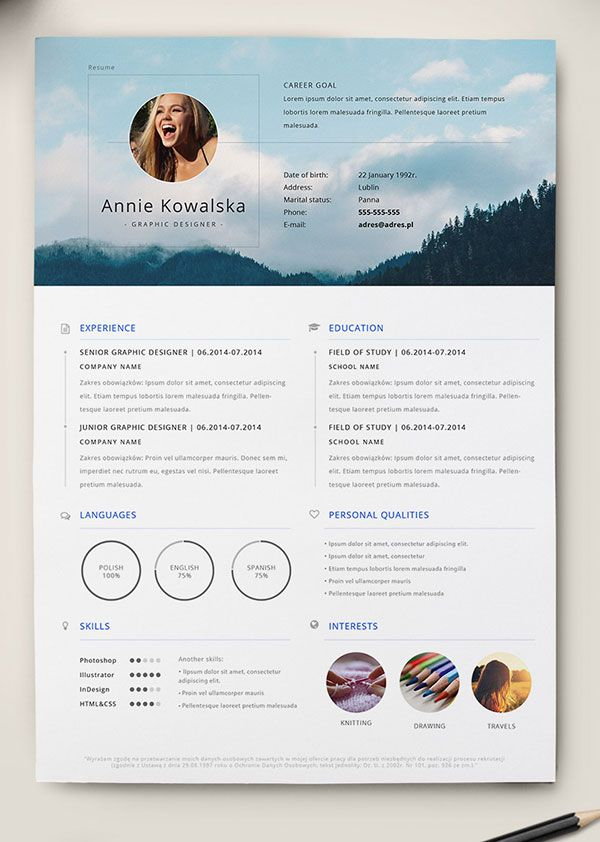 Resume Infographic 10 Best Free Resume Cv Templates In
