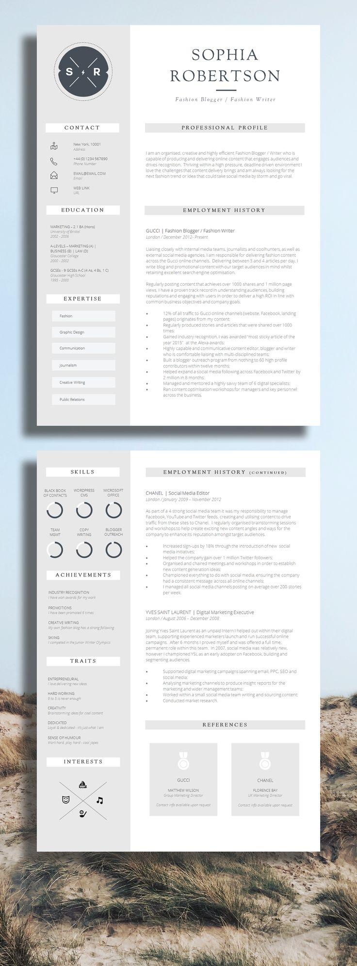Resume infographic : Creative Resume Template | Teacher