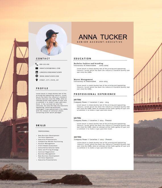 Modern Resume Template CV By HedgehogBoulevard On Etsy