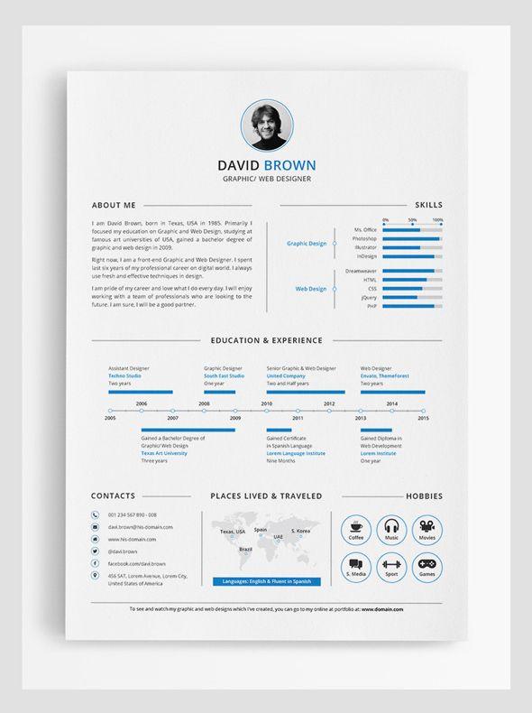 Resume Infographic Simple Infographic Resume Design Resumes Tn