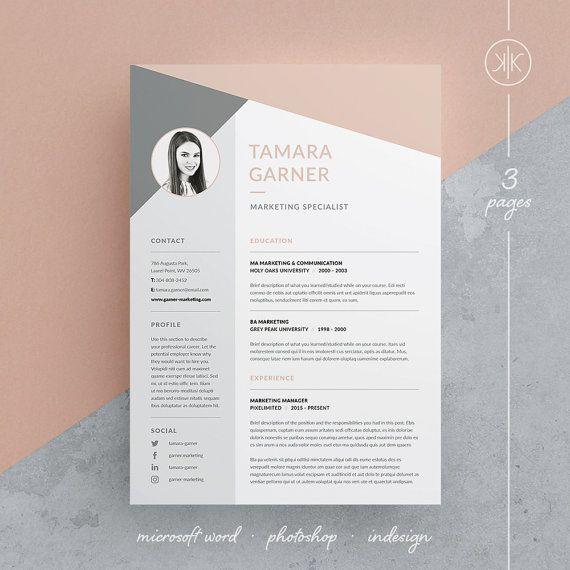 Resume Infographic Tamara Resume Cv Template Word Photoshop