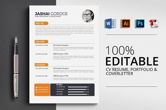 Resume Templates Design Creative Word