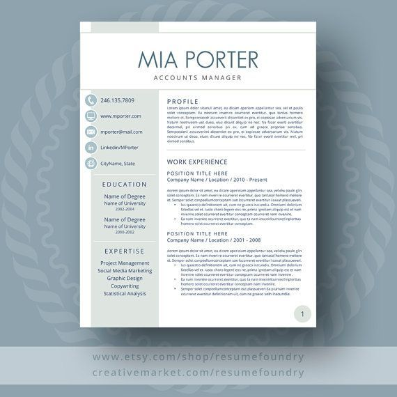 Resume Design Creative Resume Template For Word 1 3 Page Resume Cover Letter Reference Pa Resumes Tn Home Of Resumes Inspiration Ideas Beautiful Professional Resume Ideas That Work