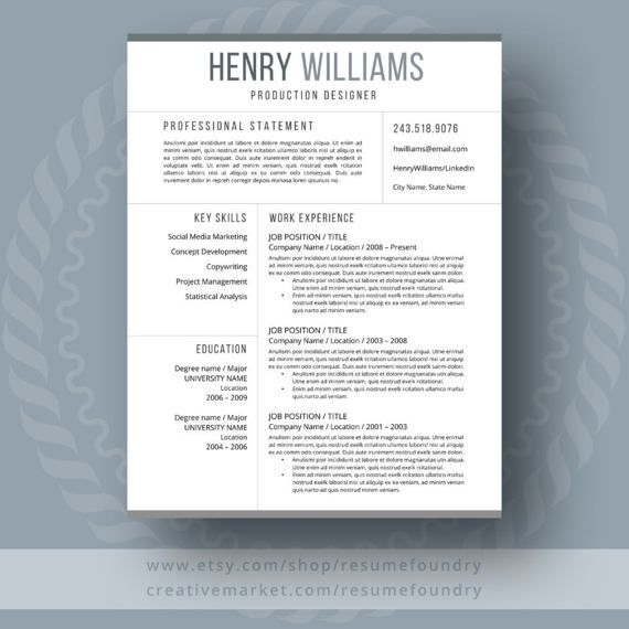 Resume Design Simple And Classy With 123 Pages Cover
