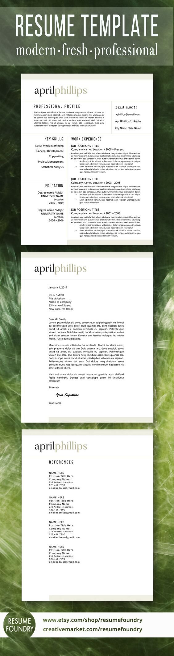 Resume Design Sweet Resume Template Package Includes One Two Or