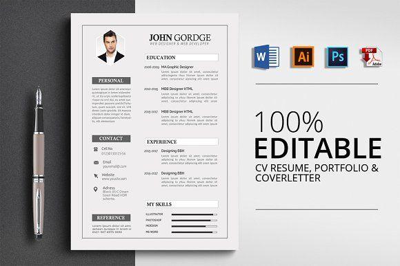 Resume Templates Design Creative Word Template