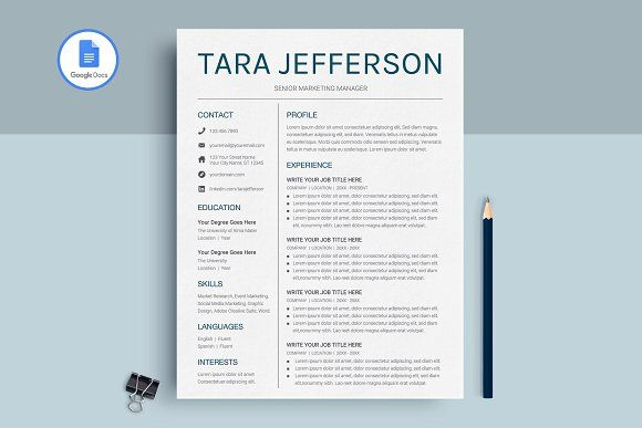 Resume Templates Design Google Docs Resume Template