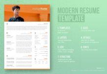 resume templates design modern resume cv template