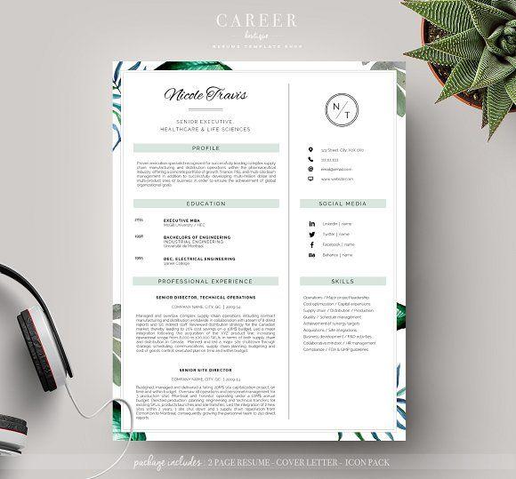 Resume Templates Design Modern CoverLetter Template