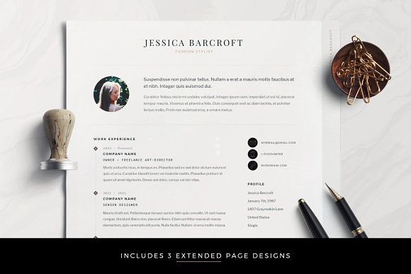 Resume Templates Design Professional Modern Cv For Word