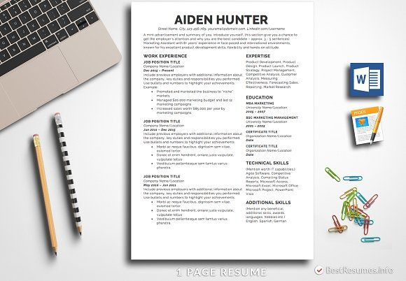 Resume Templates Design Simple Resume Template Pages
