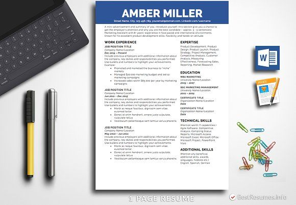Resume Templates & Design : Simple Resume Template Pages & Word ...