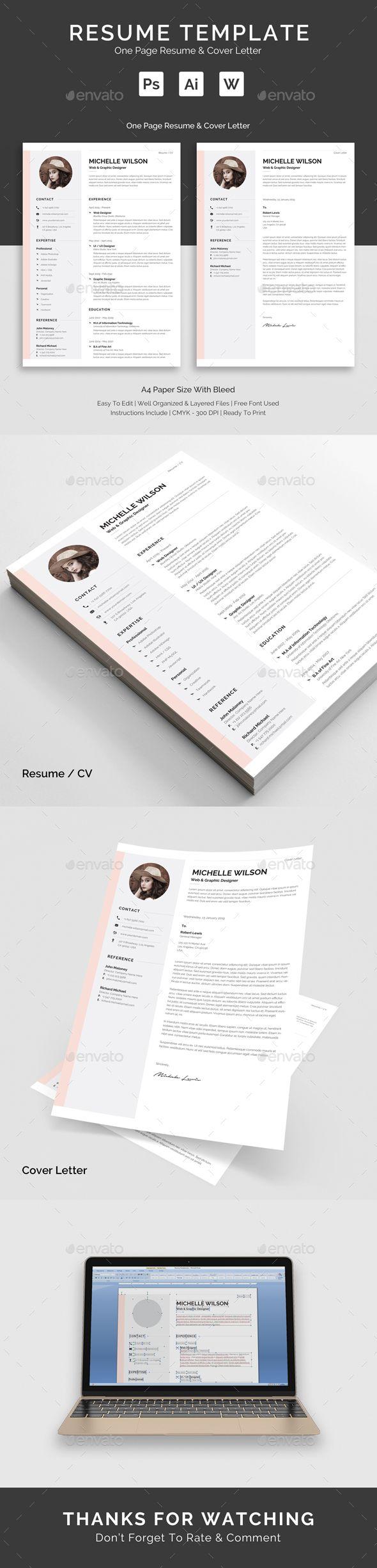 Resume Templates : Resume Template PSD, AI Illustrator, MS Word