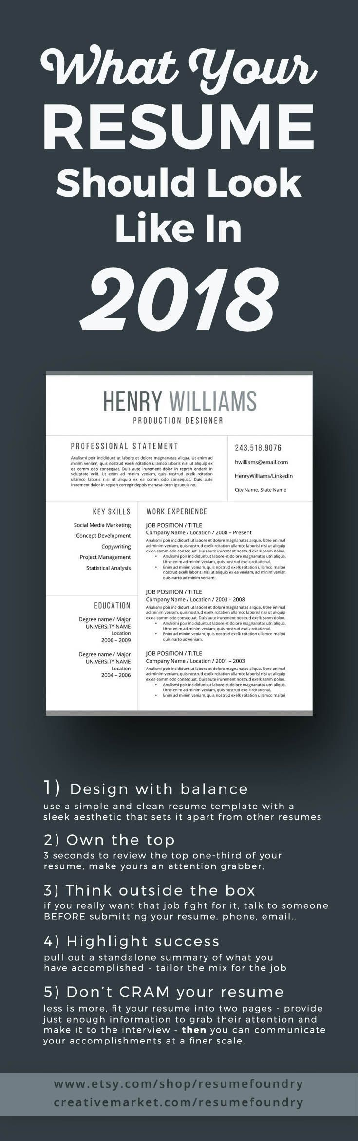resume tips the new look of resume templates for 2018 instant