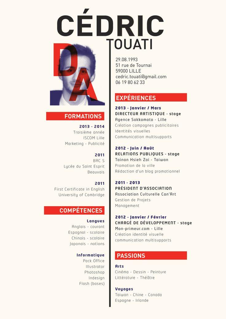 Resume Infographic Cedric Touati Directeur Artistique Art