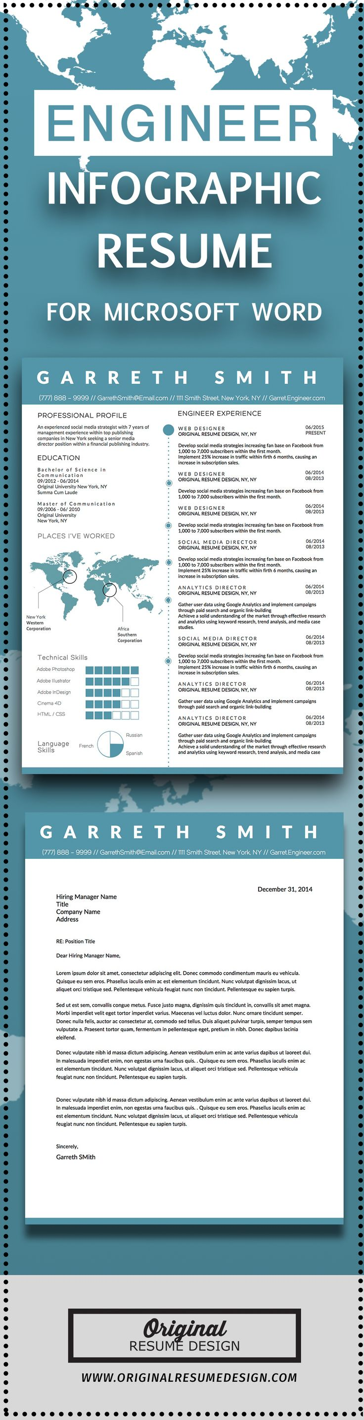 Resume Infographic Creative Clean Business