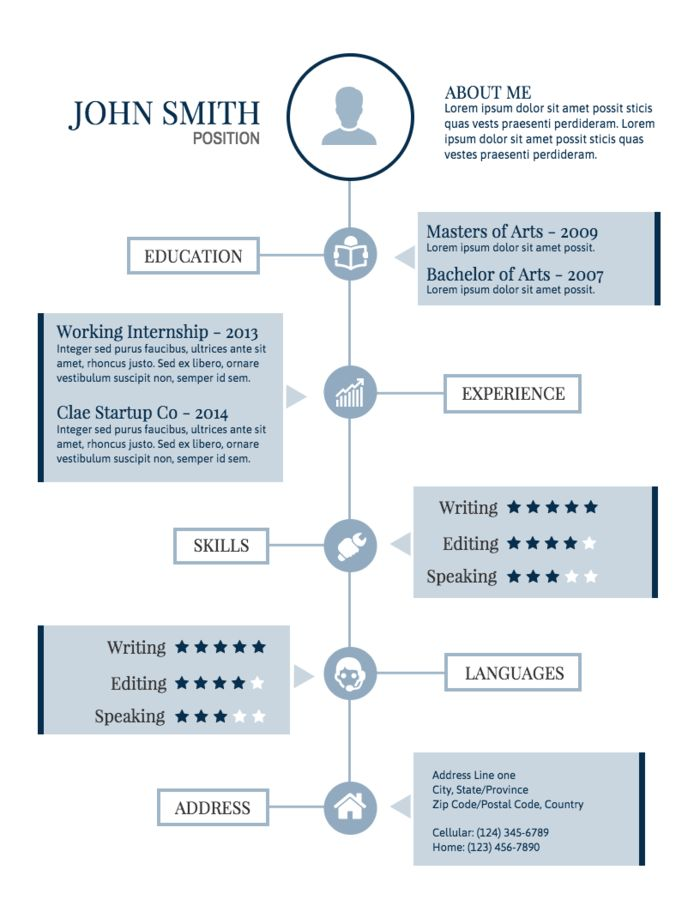 Resume infographic  Creative Professional Resume Apply For The
