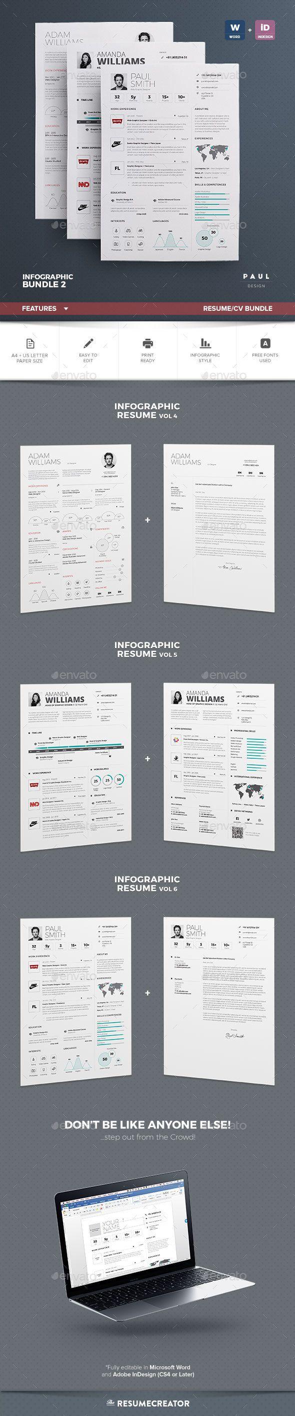 Resume Infographic Cv Bundle Vol 2