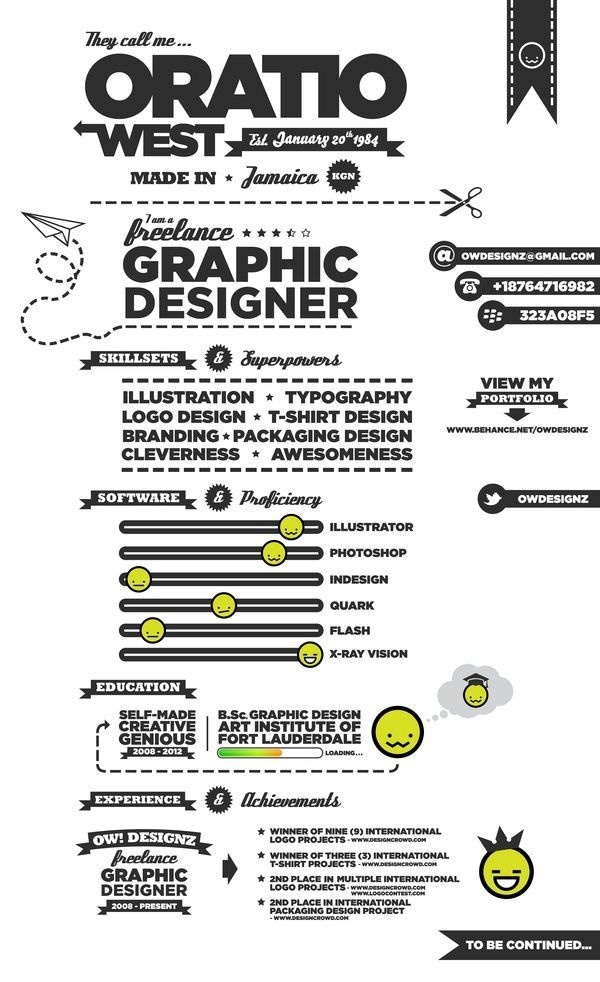 Resume Infographic Would You Go With One One These