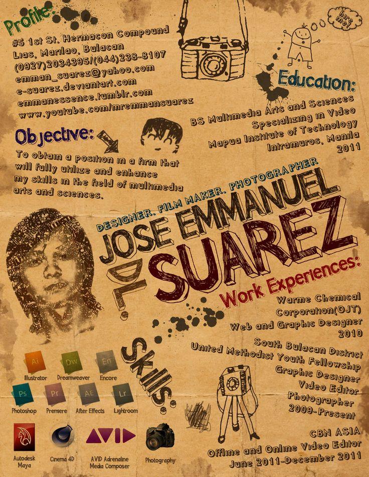 Resume Infographic Creative Resume By Suarez 900 1165