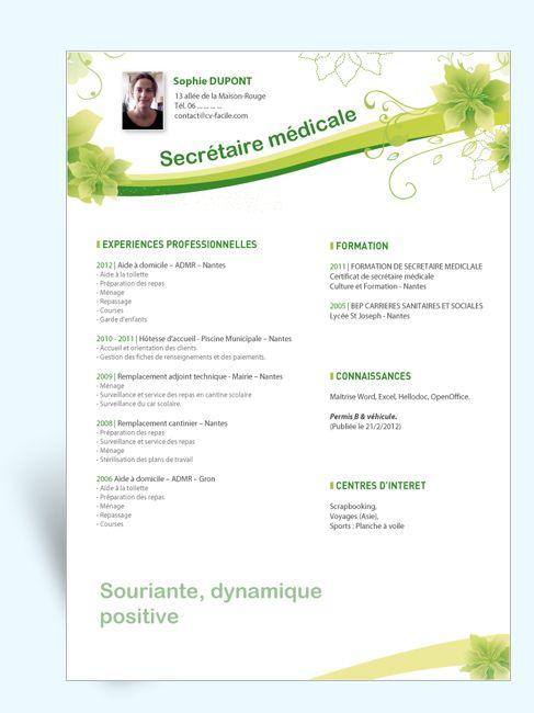 Resume Infographic Télécharger Modele Cv Secretaire