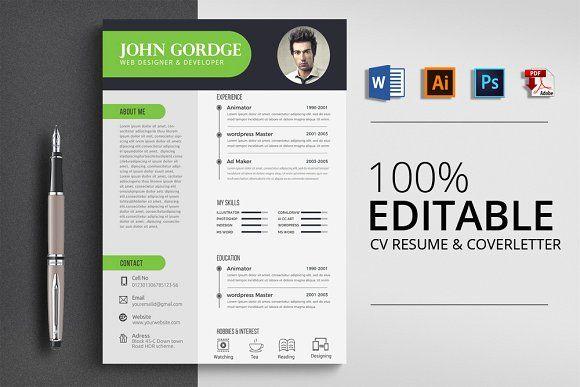 Resume Templates Design Cv Resume Word Template Creativework247