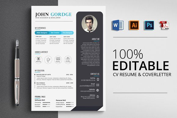 resume templates design word cv resume template creativework247