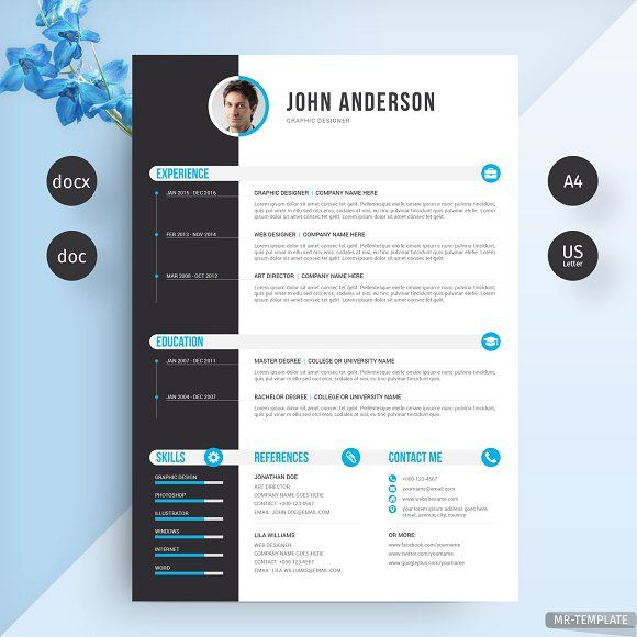 Resume CV CreativeWork247 Fonts Graphics Photoshop Templates