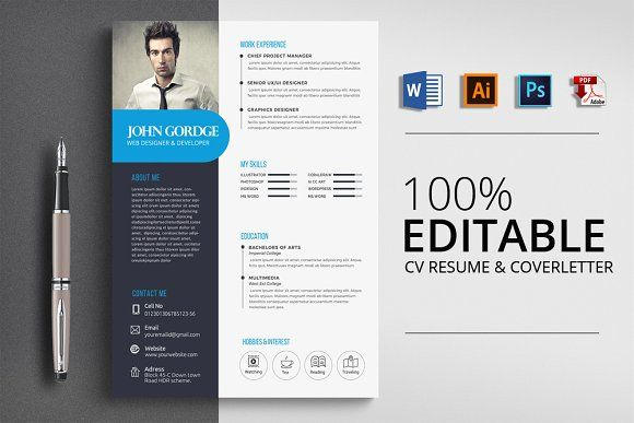 Resume Templates Design Cv Word Resume Template
