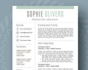 reference page on resumes