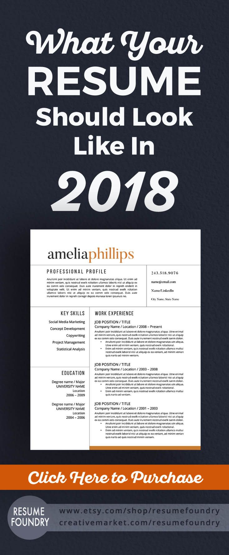 Resume Design Time To Update Your Resume For 2018 We Guarantee