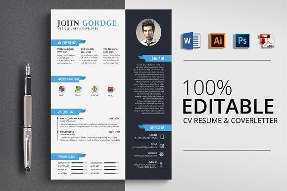 Resume Templates & Design : CV Job Resume Word Format ...