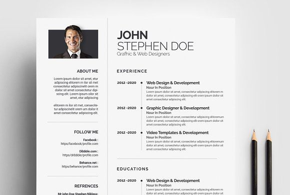 Resume Templates Design Creative Designer Resume Cv Template Creativework247 Fonts Graphics Themes Resumes Tn Home Of Resumes Inspiration Ideas